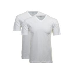 RAGMAN Unterhemd Herren T-Shirt 2er Pack - 1/2 Arm, Unterhemd, weiß XL