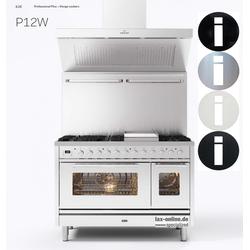 Professional Plus P12 - 120 cm Gasherd mit bis zu 8 Flammen und Doppelbackofen