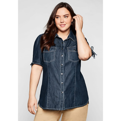 Sheego Jeansbluse Sheego dark blue Denim