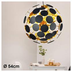 etc-shop LED Pendelleuchte, Hänge Decken Leuchte Ess Zimmer Strahler Pendel Lampe schwarz gold