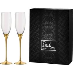 Eisch Sektglas Champagner Exklusiv (2-tlg), Kristallglas, Auflage in Echtgold, 180 ml