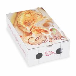 Pizzakarton CALZONE mit neutralem Motiv, 27 x 16,5 x 7,5 cm, 100 Stk.