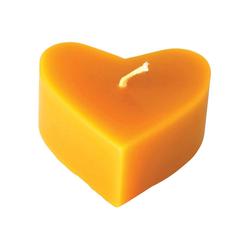 Kerzenfarm Hahn Kerze in Herzform aus Bienenwachs 2,8 x 6,5 cm