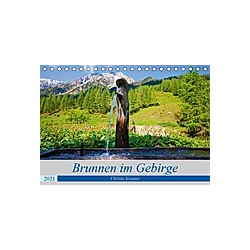 Brunnen im Gebirge (Tischkalender 2021 DIN A5 quer) - Kalender