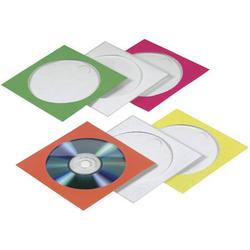 Hama CD Hülle 1 CD/DVD/Blu-Ray Papier Rot, Grün, Blau, Orange, Gelb 100 St. (B x H x T) 125 x 125