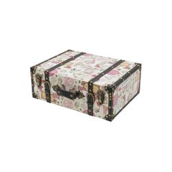 HMF Aufbewahrungsbox Vintage Koffer, aus Holz, Deko Barock, 44 x 32 x 16 cm