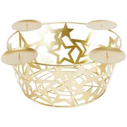 my home Adventsleuchter Adventskorb - Sterne, aus Metall