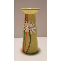 Lafinesse Kerzenständer Kerzenständer aus Keramik grün Blumenmuster Höhe ca. 16 cm ø ca. 7 cm (4 Stück) (4 Stück)