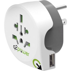 Q2 Power 1.100150 Reiseadapter Welt nach USA mit USB