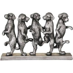 Ambiente Haus Dekofigur Hunde Tanz, antiksilber