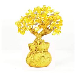 kueatily Charm Kristall Home Tisch Büro Feng Shui Dekoration Kristall Geldbaum für Reichtum und viel Glück (1-tlg)