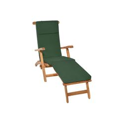 Beautissu Polsterauflage LoftLux DC, für Gartenliege 200x60x5cm grün