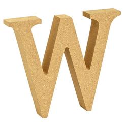 """VBS Buchstaben """"MDF"""" 8 cm x 1,5 cm bunt Buchstabe """"W"""""""