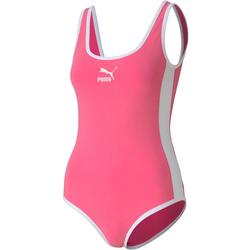 PUMA Classics T7 Bodysuit Damen in bubblegum, Größe S bubblegum S