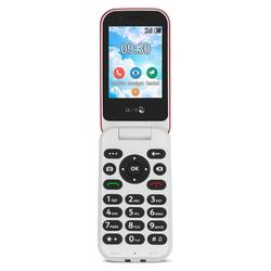 Doro 7030 rot-weiß Seniorenhandy (7,11 cm/2.8 Zoll, 3 MP Kamera, GPS, Notruftaste, bis zu 500 Telefonbucheinträge, SOS, Whatsapp und Facebook) rot