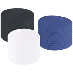 Schnellhaftende Bügelflicken, Baumwolle, 30 St. in schwarz, blau, weiß