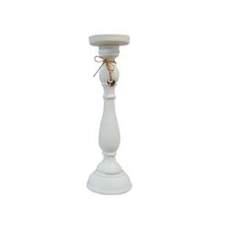 elbmöbel Kerzenständer Kerzenständer Herz weiß, Kerzenständer: weiß 12x37x12 cm klassisch Landhausstil 12 cm x 37 cm x 12 cm