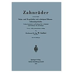Zahnräder. A. Schiebel  - Buch
