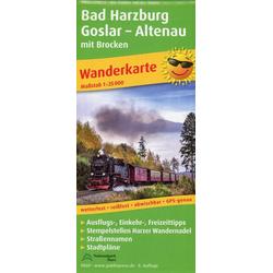Bad Harzburg Goslar Altenau mit Brocken 1 : 25 000
