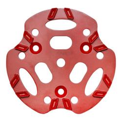 Roll Diamantscheibe 250mm V12 rot 12 Segmente in V-Anordnung