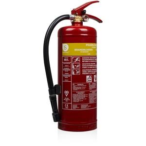 Smartwares SB3 Feuerlöscher/Schaumlöscher Brandklassen A und B (feste & flüssige Stoffe), DIN EN3 konform, Rot, 3 Liter Schaum