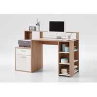 FMD Regal-Schreibtisch Bolton, mit 3 offenen Fächern beige