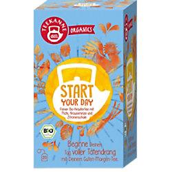 TEEKANNE Feiner Bio-Kräuter, Mate, Krausemzine, Zitronenschale Tee 20 Stück à 1.8 g