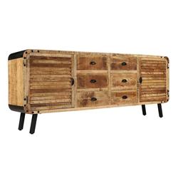 vidaXL Sideboard vidaXL Sideboard Mangoholz Massiv 200 x 40 x 80 cm