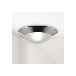 B.K.Licht LED Deckenleuchte, LED Bad-Deckenlampe Glas E27 IP44 Badezimmer Ø 310 mm