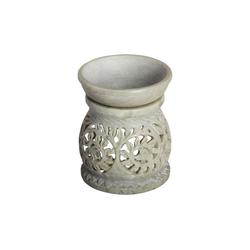 Casa Moro Duftlampe Orientalische Duftlampe Shakir-1 aus Soapstone geschnitzt 10x10x11 cm (B/T/H) Diffusor, Teelicht-Halter für Aromatherapie, Handmade Aromalampe, SL3010