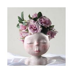Gotui Tischvase, Keramische menschliche Gesichtsvase Kunst Blumentopf Nordischer Stil