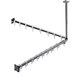 EMCO Duschvorhang-Set System 2 800 mm chrom