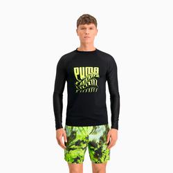 PUMA Swim PsyGeo Rashguard, Schwarz, Größe: M, Kleidung