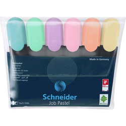 Schneider Textmarker Textmarker Job pastell Etui 6 Stück 50-115097