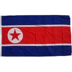 XXL Flagge Nordkorea 250 x 150 cm Fahne mit 3 Ösen 100g/m² Stoffgewicht