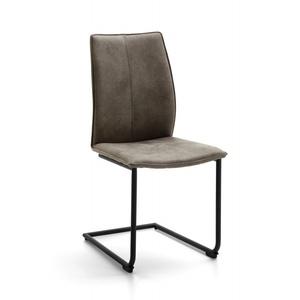 Schwingstuhl Capri Microfaser stone NIEHOFF 734104425 (BHT 46x93x56 cm) Niehoff-Sitzmöbel