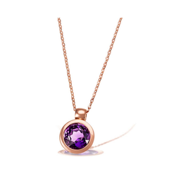 goldmaid Collier 375/- Rotgold 1 lila Amethyst rot