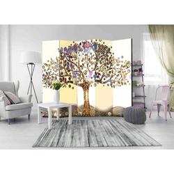 Trennwand Paravent mit blühendem Baum 225 cm breit