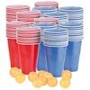infactory Trinkspiel-Set Bier Pong mit 120 Bechern (je 450 ml) und 10 Bällen
