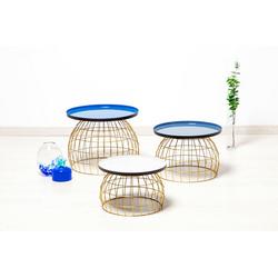Kayoom Beistelltisch Laudatio, (3er-Set) blau