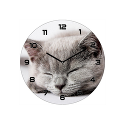 HTI-Line Wanduhr Wanduhr Katze