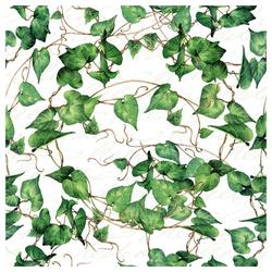 Linoows Papierserviette 20 Servietten, Grüne Efeu Ranken, Immergrüner Efeu, Motiv Grüne Efeu Ranken, Immergrüner Efeu