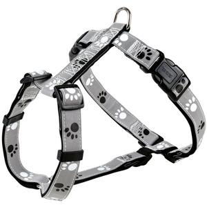 TRIXIE Hundegeschirr Silver Reflect, XS-S silberfarben XS-Sfür 30-40 cm Bauchumfang