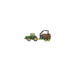 Siku Spielzeug-Auto SIKU 1954 Traktor mit Forstanhänger