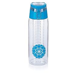 Trinkflasche mit Infuser  750ml (Farbe: blau)