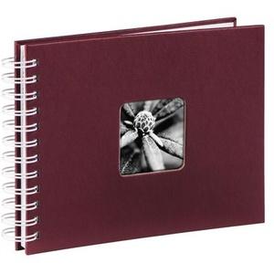 Hama Spiral-Album Fine Art, 24x17 cm, 50 weiße Seiten Bordeaux