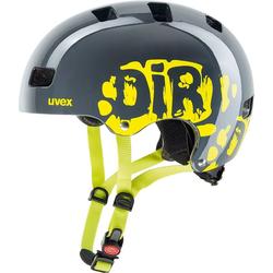 Uvex Kinderfahrradhelm Fahrradhelm Kid3 dirtbike grey-lime 51-55 51-55