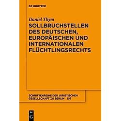 Sollbruchstellen des deutschen  europäischen und internationalen Flüchtlingsrechts. Daniel Thym  - Buch