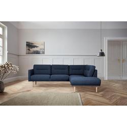 andas Ecksofa Brande, in skandinavischem Design blau