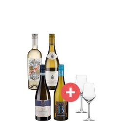 4er-Paket Weißwein + GRATIS Schott-Zwiesel Gläser - Weinpakete